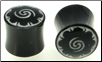 Horn Saddle Plugs, Borneo Dayak Flower Inlays, 1/2 inch (SKU: HSBDF-1-2)