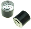 Silver Capped Horn Saddle Plugs, Water, 0 gauge - 5/8 inch (SKU: HSSC-W)