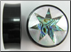 Horn Saddle Plugs, 7-Point Star Shell Inlays, 1-1/2 inch (SKU: HSSI-7S-112)