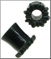 Black Jade Double-Flared Sunflower Plugs, 1/2 inch (SKU: JTPB-S-1-2)