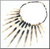 African Porcupine Quill Bead Florence Necklace (SKU: N17)