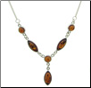 Sterling Silver Baltic Amber Florence Necklace (SKU: N23)