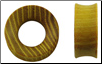 Osage Orange Hardwood Tunnel Plugs, 1-1/8 inch (SKU: HW-OSGT-118)