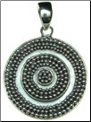 Sterling Silver Round Disc Pendant (SKU: P17)