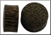 Solid Coconut Wood Saddle Plugs, 7 gauge - 2 inch (SKU: PLUGCW100)