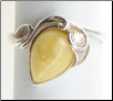 Sterling Silver Butterscotch Baltic Amber Ring (SKU: R26-b)