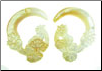 Large Gauge Mother of Pearl Shell Lily Pad Hook Earrings (SKU: SHL)