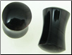 Large Gauge Obsidian Stone Saddle Plugs, Rounded Ends (SKU: OSPR)