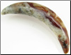 Large Gauge Mottled Serpentine Curved Septum Tusk (SKU: SST-M)