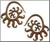 Large Gauge Sawo Wood Creature Spiral Earrings (SKU: SWS1)