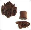 Sawo Wood Ganesh Fake Gauge Plugs (SKU: WF-12)