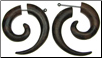 Jennifer purchased Areng Wood Fakie Spiral Earrings with Steel Posts