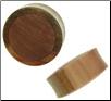 Sawo Wood Saddle Plugs, Suar Wood Inlays, 1-1/4 inch - 1-3/8 inch (SKU: WPS-S)