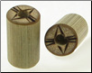 Large Gauge Bamboo Cylinder Plugs, Burnt Abstract Eye Designs (SKU: BCP-B6)