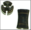 Large Gauge Drilled Hole Coconut Shell Saddle Plugs (SKU: CPH)