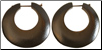 Kendra ordered a pair of Discus Hoop Thorn Style Wooden Earrings.