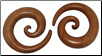 "Caroline ordered 7/8"" Huge Sawo Wood Spiral Earrings"