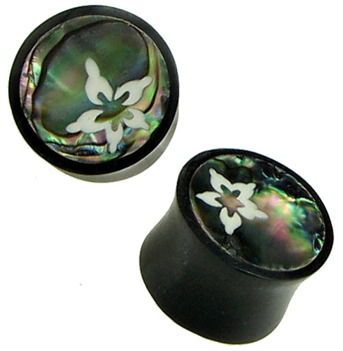 Horn Saddles With Abalone Shell Inlays Island Flower 11