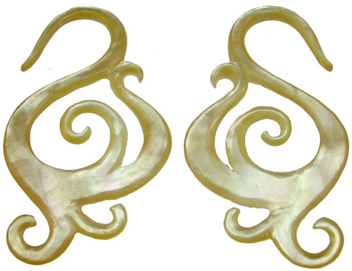 Hook Mother of Pearl Mother of Pearl Swirly s Hook